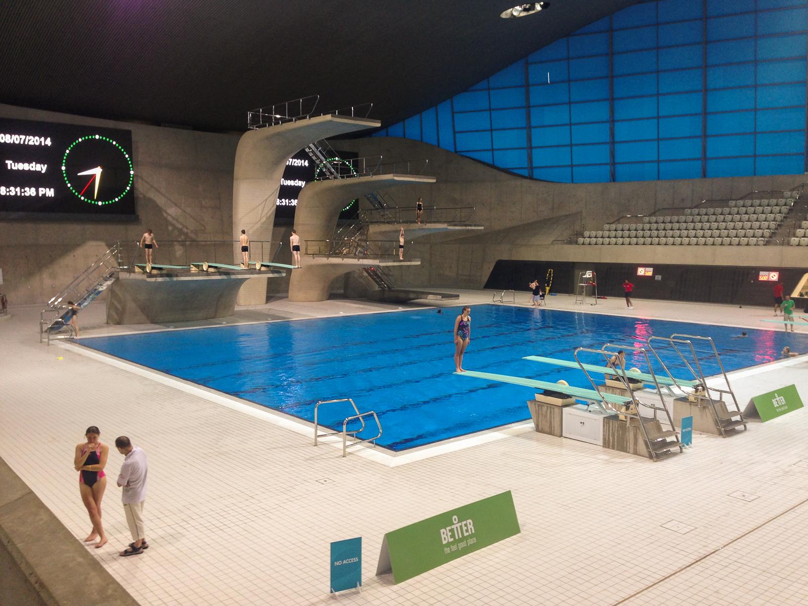 Basen w Londynie do nurkowania