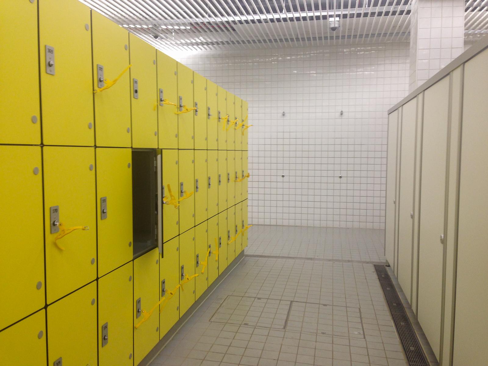 London Aquatics szatnia